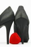 Zapatos elegantes negros Imagenes de archivo