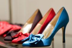 Zapatos en el almacén Imagen de archivo libre de regalías