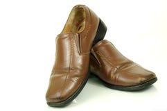 Zapatos envejecidos de la manera para los hombres Fotos de archivo libres de regalías