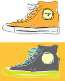 Zapatos estilizados del deporte Fotos de archivo