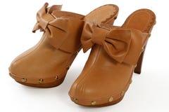 Zapatos femeninos Fotografía de archivo libre de regalías