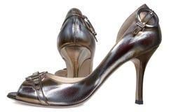 Zapatos femeninos agraciados Fotos de archivo libres de regalías