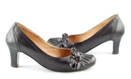 Zapatos femeninos de cuero Imagen de archivo libre de regalías