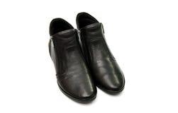 zapatos femeninos de cuero aislados Fotos de archivo libres de regalías