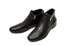 zapatos femeninos de cuero aislados Foto de archivo libre de regalías