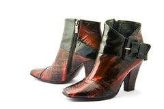 Zapatos femeninos de la manera Fotos de archivo