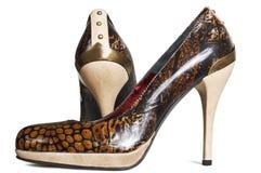 Zapatos femeninos de moda imagen de archivo libre de regalías