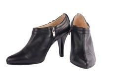 Zapatos femeninos negros Imágenes de archivo libres de regalías