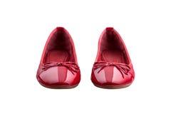 Zapatos femeninos rojos Imagen de archivo libre de regalías