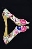 Zapatos florales Fotos de archivo