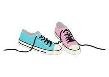 Zapatos frescos del vector Foto de archivo