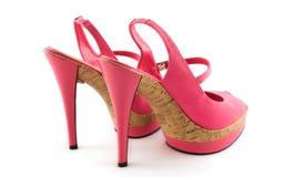 Zapatos frescos rosados de la mujer Foto de archivo