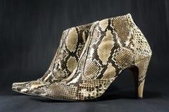 Zapatos hechos de piel de serpiente Foto de archivo libre de regalías