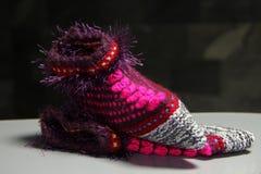 Zapatos hechos punto Fotografía de archivo libre de regalías