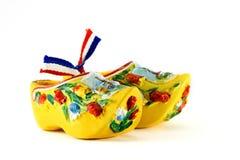 Zapatos holandeses amarillos Fotos de archivo libres de regalías