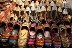 Zapatos indios tradicionales para la mujer Fotografía de archivo