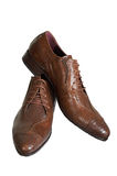 Zapatos inferiores del hombre Imagenes de archivo