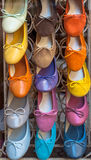 Zapatos italianos coloridos Imagenes de archivo