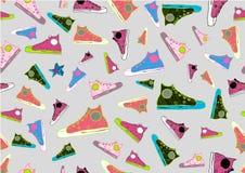 Zapatos a mano frescos del deporte Fotos de archivo