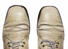 Zapatos masculinos de moda de la abarca imagenes de archivo