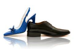 Zapatos masculinos y femeninos Fotografía de archivo
