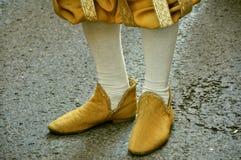Zapatos medievales Fotos de archivo libres de regalías