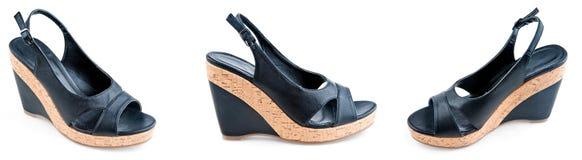 Zapatos modernos de la mujer Imagen de archivo libre de regalías