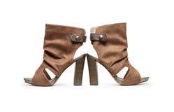 Zapatos modernos de la mujer Foto de archivo