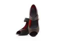 Zapatos modernos de las mujeres del tacón alto Imagenes de archivo