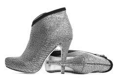 Zapatos mujeriles aislados Imagen de archivo