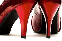 Zapatos mujeriles aislados fotos de archivo