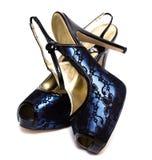 Zapatos mujeriles aislados Imágenes de archivo libres de regalías