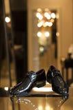 Zapatos negros Fotografía de archivo libre de regalías