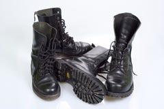 Zapatos negros Imágenes de archivo libres de regalías