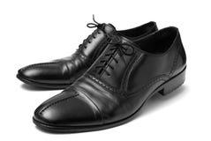 Zapatos negros clásicos Imagen de archivo libre de regalías
