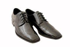 Zapatos negros del smoking de los hombres Fotos de archivo libres de regalías