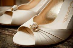 Zapatos nupciales Imágenes de archivo libres de regalías