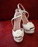 Zapatos nupciales Fotos de archivo