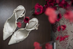 Zapatos nupciales Imagenes de archivo