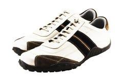 Zapatos ocasionales en blanco Imagen de archivo libre de regalías