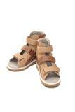 Zapatos ortopédicos para los niños Fotos de archivo