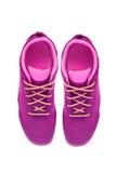 Zapatos púrpuras Fotos de archivo libres de regalías