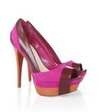 Zapatos púrpuras atractivos Fotografía de archivo