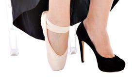 Zapatos para el ballett de la ópera fotografía de archivo