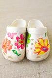 Zapatos plásticos Foto de archivo