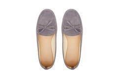 Zapatos planos de la bailarina imagenes de archivo