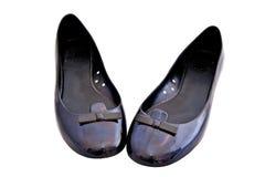 Zapatos planos del ballet de la mujer Fotografía de archivo libre de regalías