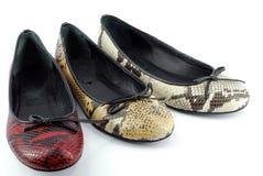 Zapatos planos del ballet de la señora Imagen de archivo libre de regalías