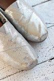 Zapatos planos del brillo Fotografía de archivo