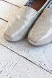 Zapatos planos del brillo Imagen de archivo
